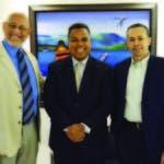 Joaquín Ramírez, Raúl Hernández y Ricardo Fortuna, dirigentes de la organiza ci ó