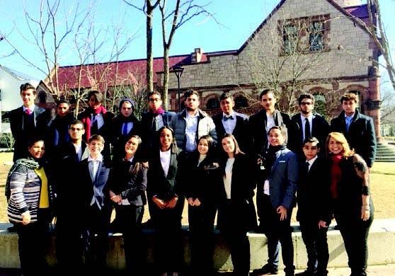 La delegación dominicana en Harvard