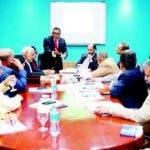 Maldonado y los diputados en la comisión especial