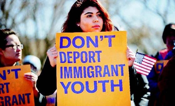 Manifestación en apoyo a los inmigrantes en Estados Unidos
