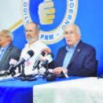 Miembros de la CNO durante rueda de prensa ayer para ofrecer el boletín número cinco sobre resultados