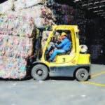 Muestra de las operaciones de la planta recicladora PetStar, situada en Toluca, México.
