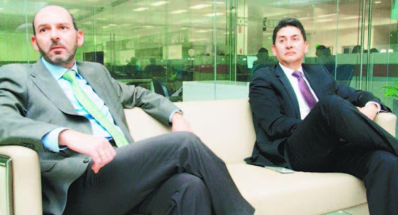 Pierre Nahas y Arvey Benavides durante una entrevista para HOY.