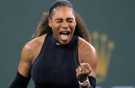 Serena Williams vuelve al circuito con debut triunfal en Indian Wells