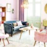 terciopelo es la tela del momento; aporta lujo y sofisticación a los espacios.