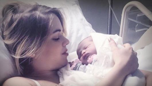 Zeny Leyva da a luz a de su primogénita Amira Hernandez Leyva