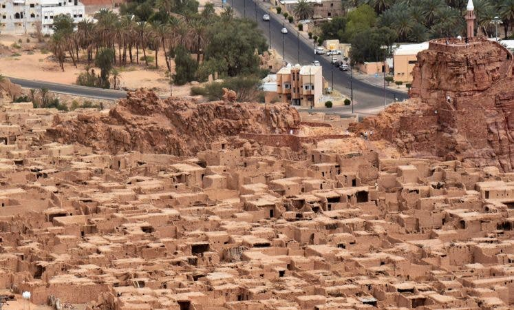 6. Vista aérea de la antigua ciudad histórica de al-Ula