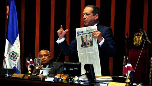 Senado/ Hemiciclo Aprueban en primera lectura ley de partido. 11/04/18 Foto: Pablo Matos.