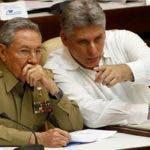 Castro y  Díaz Canel.
