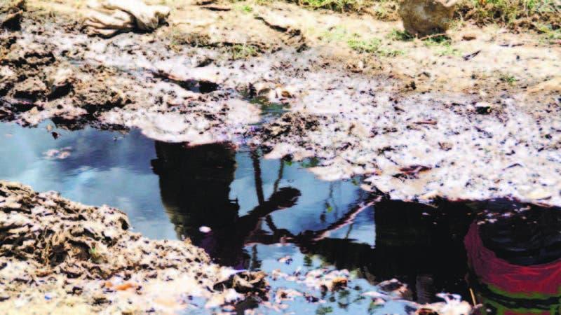 No es petróleo lo que se observa en gráfica sino lixiviados de vertedero Duquesa que van a río Isabela