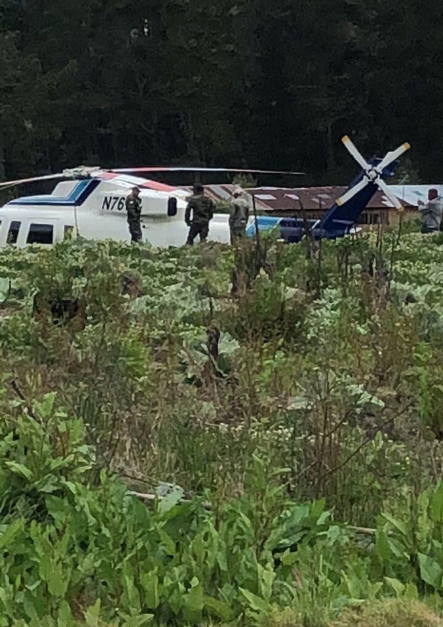 Cae helicóptero en que viajaba ministro de Medio Ambiente, Ángel Estévez