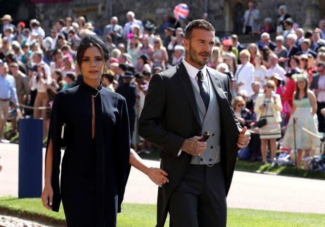 25. David y Victoria Beckham llegan a la boda
