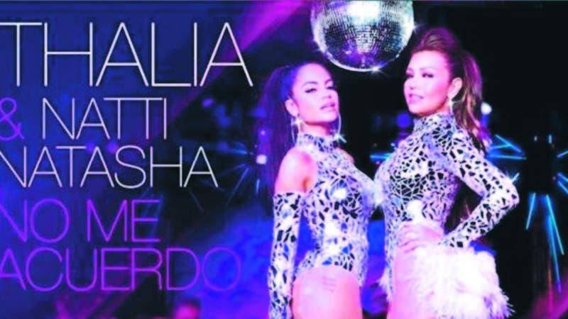 Thalía junto a Natti Natasha, quien vive un importante momento en su carrera.