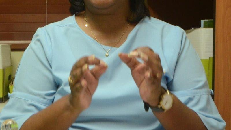 Xiomara Guante, la secretaria de educación de la Asociación Dominicana de Profesores (ADP), durante una entrevista en ADP Santo Domingo Rep. Dom. 19 de junio del 2018. Foto Pedro Sosa