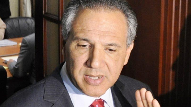 El ministro de la Presidencia, José Ramón Peralta.
