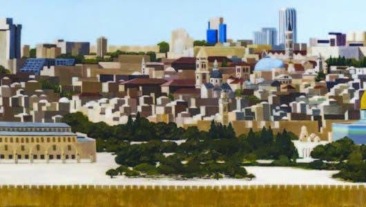 PATRICIA SHIRA  en sus pinturas arquitectónicas  de tierras  prometidas