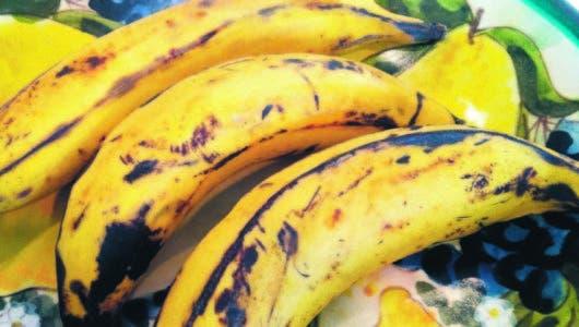 El plátano  maduro, sus beneficios