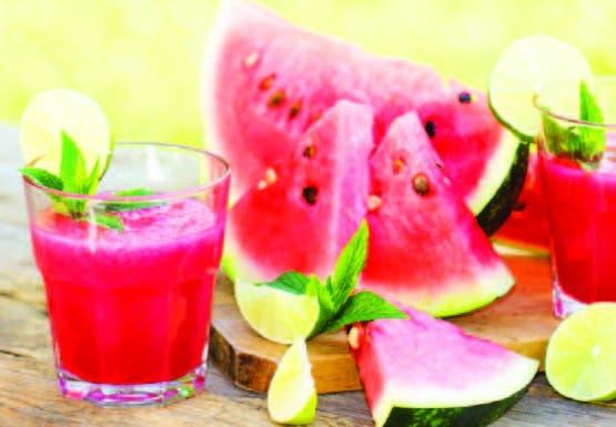La sandía es una de las frutas con mayor cantidad de agua