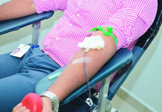 Muchos fueron los voluntarios en donar su sangre para salvar vidas