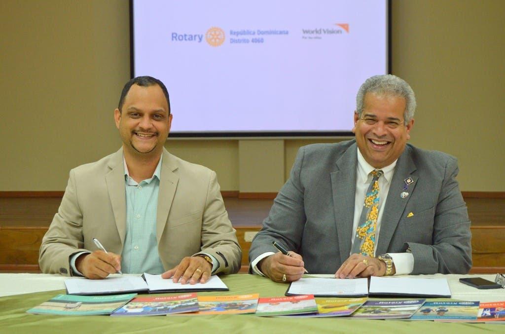 Rotary República Dominicana y World Vision firman acuerdo para trabajar por el bienestar de la niñez