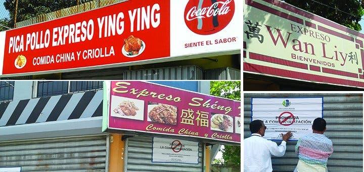 En la avenida Independencia, Proconsumidor cierra tres restaurantes por encontrar cucarachas y productos vencidos