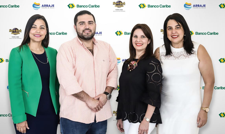 Banco Caribe en alianza con Hard Rock Hotel y Arbaje Tours