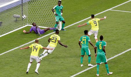 Video: Colombia vence a Senegal con gol de Mina y se clasifica