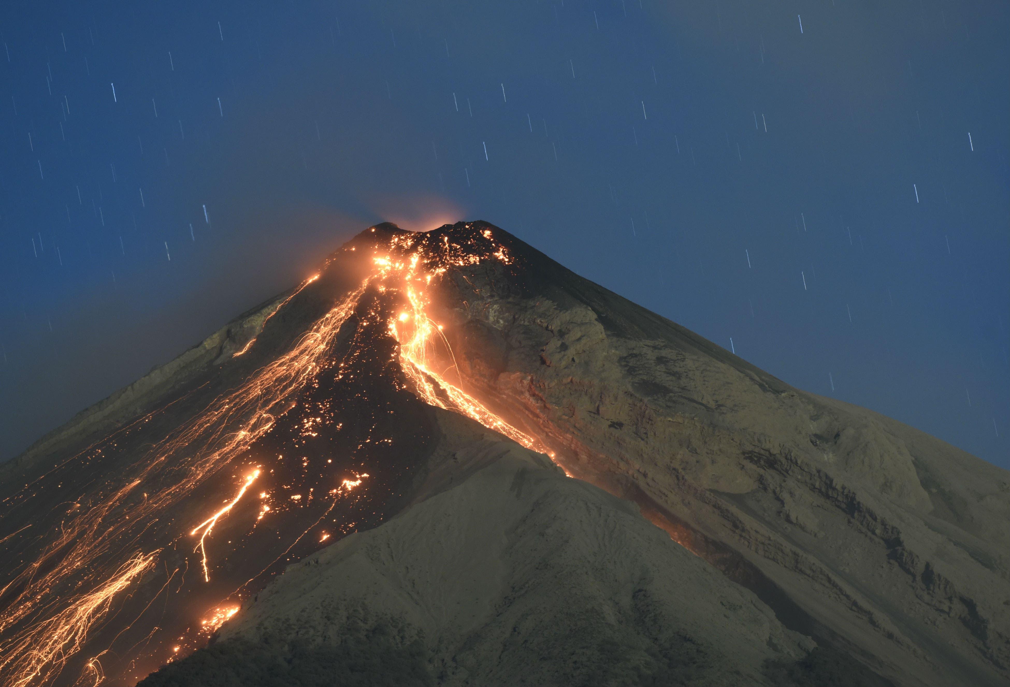 Volcán de Fuego de Guatemala aumentó su actividad explosiva