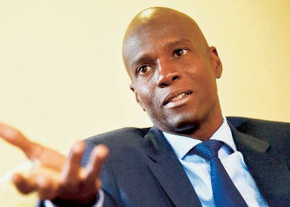 Jovenel Moise, Haitian presidential candidate of PHTK Political Party,  speaks during an interview with AFP in the commune of Petion Ville in the Haitian capital, Port-au-Prince, on September 6, 2016.  Haiti has been mired in deep political crisis since violence disrupted parliamentary elections in August 2015, prompting the vote to be canceled in nearly a quarter of constituencies. Twenty-seven candidates will participate in the October 9, 2016 presidential election.  / AFP / HECTOR RETAMAL