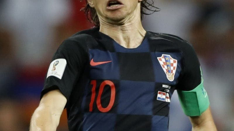 Croatia's Luka Modric eyes the ball during the semifinal match between Croatia and England at the 2018 soccer World Cup in the Luzhniki Stadium in Moscow, Russia, Wednesday, July 11, 2018. (AP Photo/Francisco Seco)