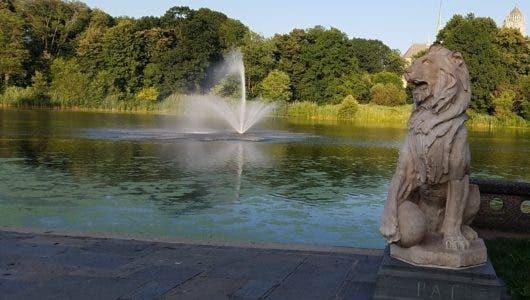 Newark entre su catedral y parque