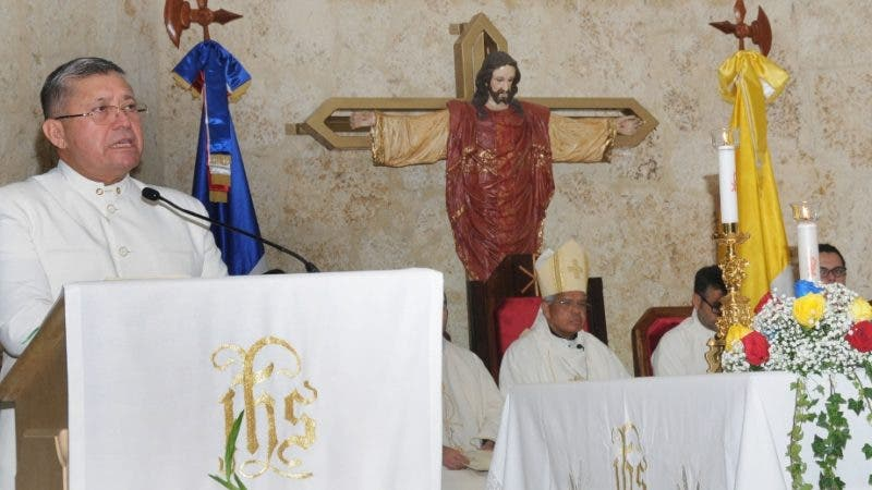 Eucaristía en la Parroquia Jesucristo Sumo y Eterno Sacerdote, por el 207 aniversario de la Independencia de la Rep. Bolivariana de Venezuela. La misa fue oficiada por monseñor Francisco Ozoría Acosta. HOY/ Aracelis Mena. 05/07/2018