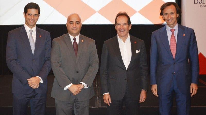 Rostros. Bancamerica.    Alfredo Vargas, Giacomo Giannetto, Víctor Vargas, Raúl Baltar
