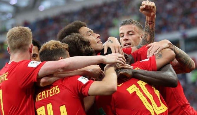 La selección de Bélgica recibe su premio