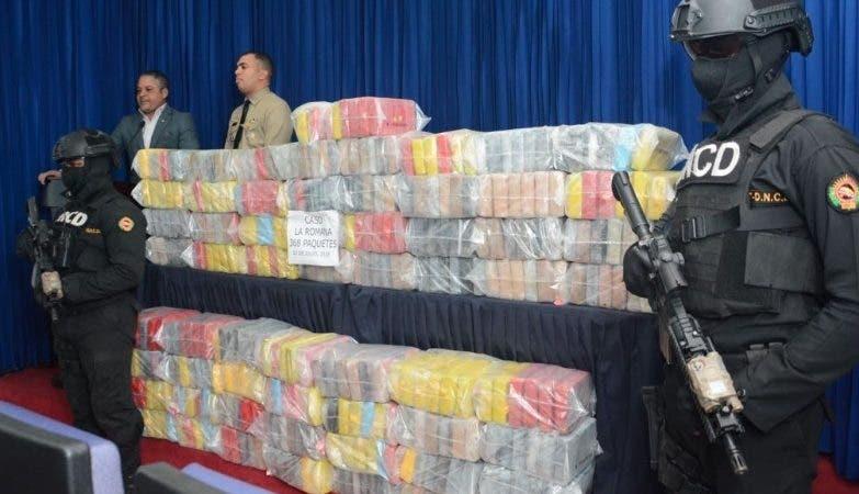 Cargamento de droga decomisada por la DNCD.