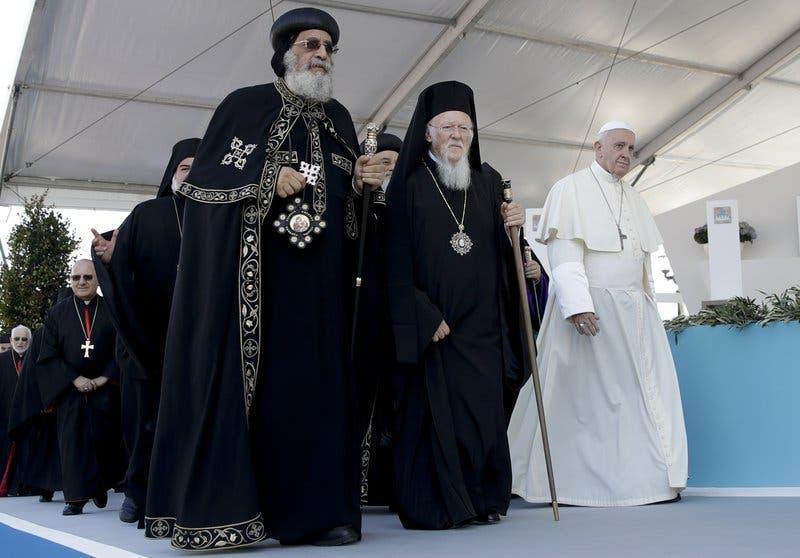 El papa y los patriarcas ortodoxos oran por el Medio Oriente
