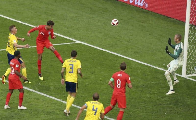 Inglaterra derrota 2-0 a Suecia y se instala en semifinales del Mundial