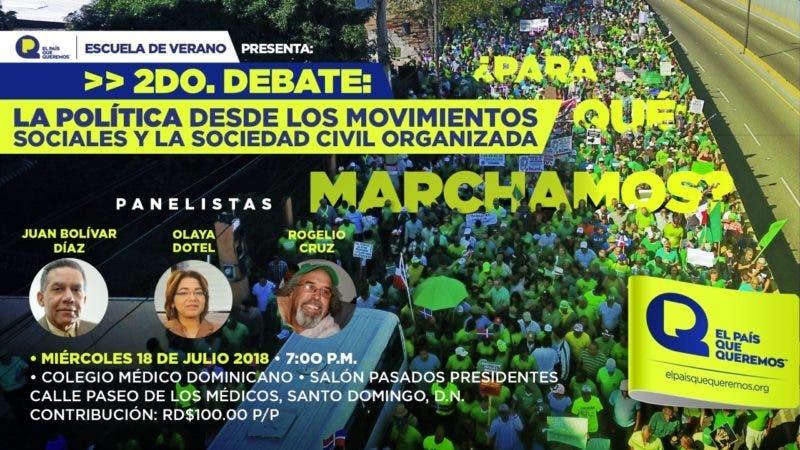 El debate partirá de la pregunta que inicialmente será respondida por los panelistas Juan Bolívar Díaz (periodista), Olaya Dotel (politóloga) y Rogelio Cruz (sacerdote y sociólogo) en un ambiente de diálogo con el público.