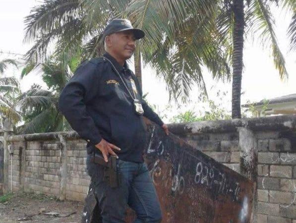 Mayor de la Policía, Moisés Montero Amador/Fuente externa.