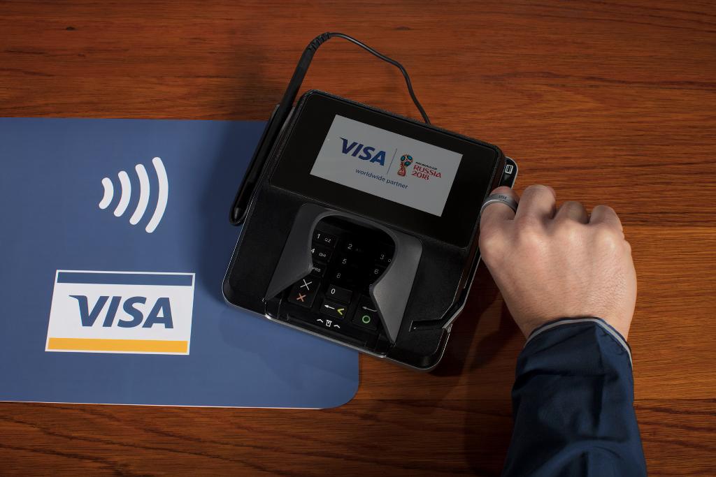 Datos de Visa revelan que una quinta parte de las compras en la Copa Mundial de la FIFA 2018 usan tecnología de pagos sin contacto