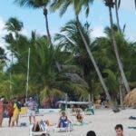 La Romana. Playa Punta Laguna ( Dominicus) Bayahibe. Turistas. El Nacional/ Jorge Gonzalez. 7.02.2009