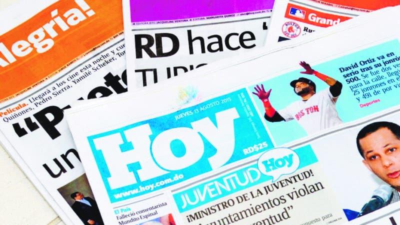 Portada Periodico Hoy. 13-8-15. Fotos: Adolfo Woodley Valdez.