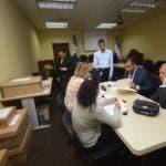 Suprema Corte de Justicia entrega pruebas del caso Odebrecht a abogados de los imputados  en la Suprema Corte de Justicia Santo  Domingo Rep. Dom. 14 agosto del 2018. Foto Pedro Sosa