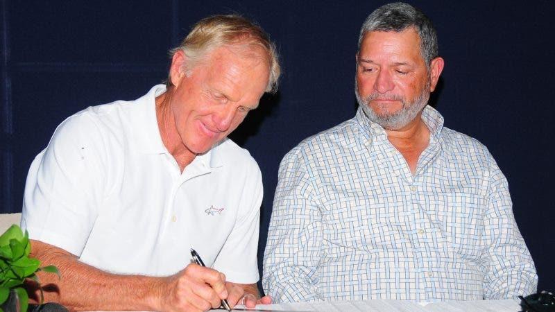 Golf Hall Of Famer Greg Norman, llega a la República Dominicana para dar inicio al nuevo Golf & Country Club vista del Pedregal. HOY/ Aracelis Mena. 24/08/2018