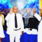 El alcalde Francisco Peña al celebrarse los 155 años de la Restauración de la República Dominicana, realizó el acto de rendición  de cuentas del Ayuntamiento de Santo Domingo Oeste. HOY/ Aracelis Mena. 16/08/2018