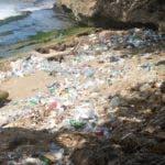 Recorrido por las diferentes playas de la costa de Santo Domingo donde todavía el mar esta tirando basuras y desecho a las orilla en foto : Paya de  Güibia HOY Duanu Nuñez 19-8-2018 hotel cataloña