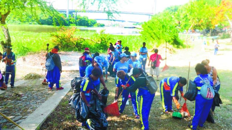 jornada de limpieza en la Cienega Santo Domingo Rep. Dom. 10 de agosto de 2018. Foto Pedro Sosa