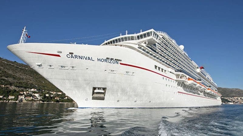 The new Carnival Horizon departs Dubrovnik, Croatia,  Sunday, April 8, 2018. The 1,062-foot-long cruise ship is sailing on inaugural voyages and, following a short series of Mediterranean cruises, is to arrive in New York City May 23, 2018, for a naming ceremony featuring Queen Latifah. Accommodating almost 4,000 guests, Horizon is then to sail from New York throughout the summer and arrive in Miami in late September to begin year-round 6- and 8-day Caribbean voyages. FOR EDITORIAL USE ONLY (Andy Newman/Carnival Cruise Line/HO).-- Puerto Plata:- El crucero Carnival Horizon suspendió su arribo la mañana de este lunes ultimo a la terminal Amber Cove, ubicada en el distrito de Maimón de este municipio, debido a inconvenientes técnicos que impidieron su arribo a este destino de la costa Norte.  Hoy/Andy Newman 14/8/18