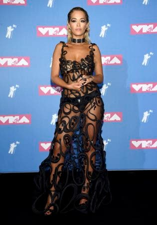 8. Rita Ora poses in the press room at the MTV Video Music Awards at Radio City Music Hall on Monday, Aug. 20, 2018, in New York. (Photo by Evan Agostini/Invision/AP)