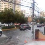 Calles inundadas por lluvias